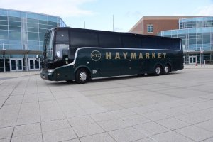 Black Luxury Coach Bus Haymarket Transportation