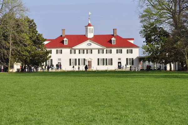 The home of former president of the USA George Washington